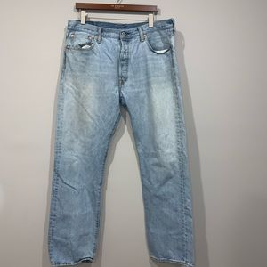 Distressed Levi's 501 Button Fly Jeans 36x32